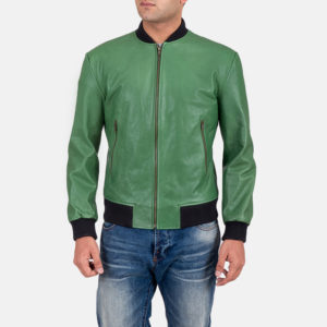 Mimicking nature, greenery, lushness and life this Shane Green Bomber Jacket makes for the perfect jacket gift.