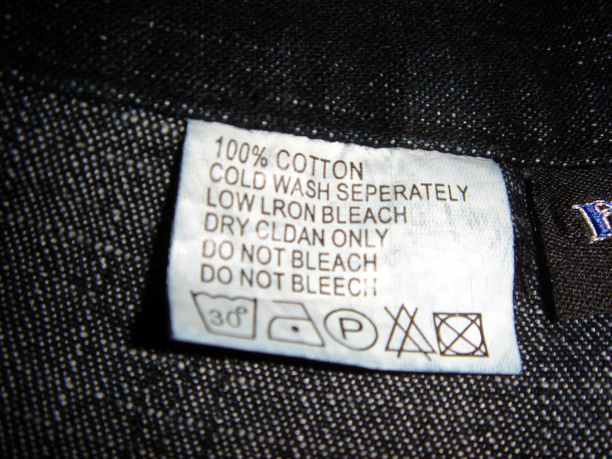 Leather jacket label