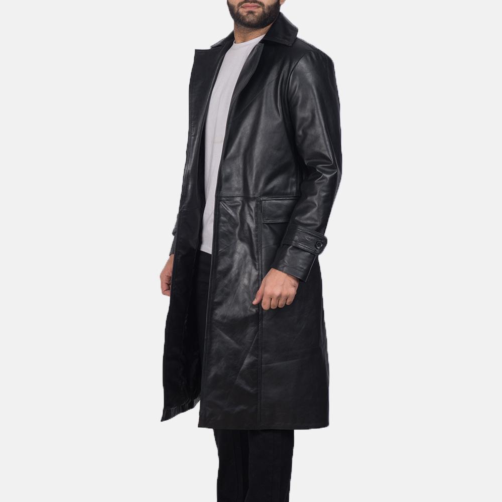 Clarent-Black-Leather-Coat