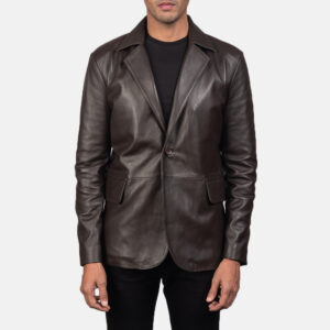 Daron Brown Leather Blazer