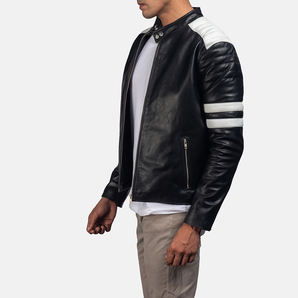 Monza-Black-and-White-Leather-Biker-Jacket