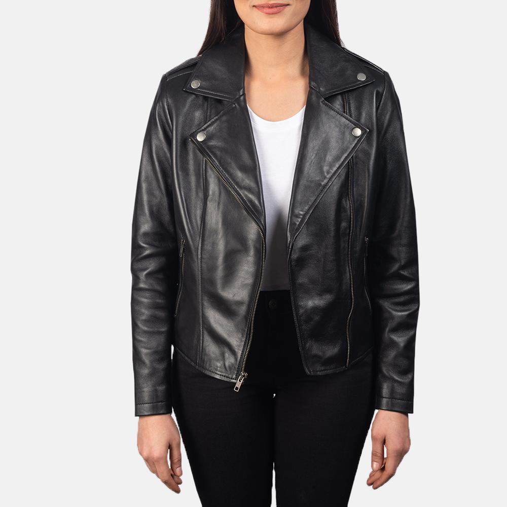 Flashback-Black-Leather-Biker-Jacket-For-Women