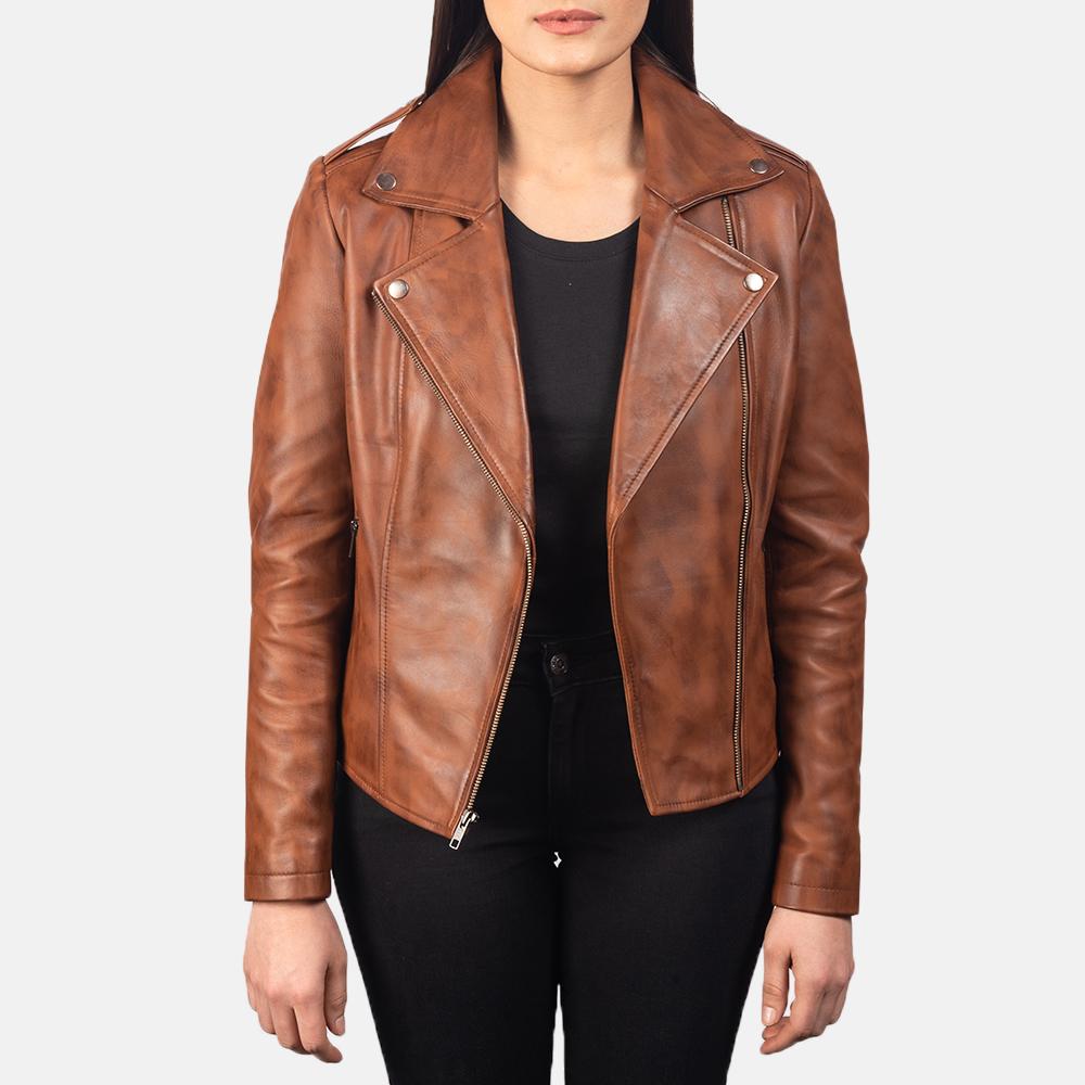 Flashback-Brown-Leather-Biker-Jacket-For-Women