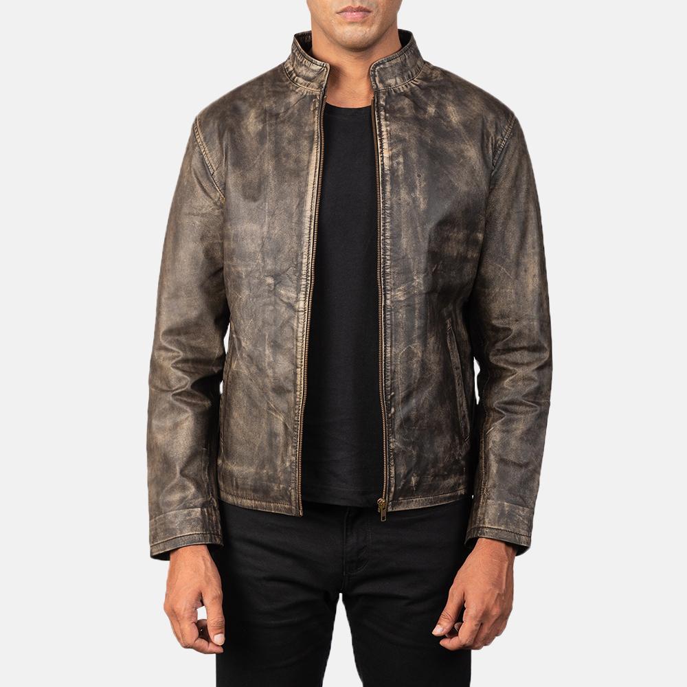 Goatskin leather jacket