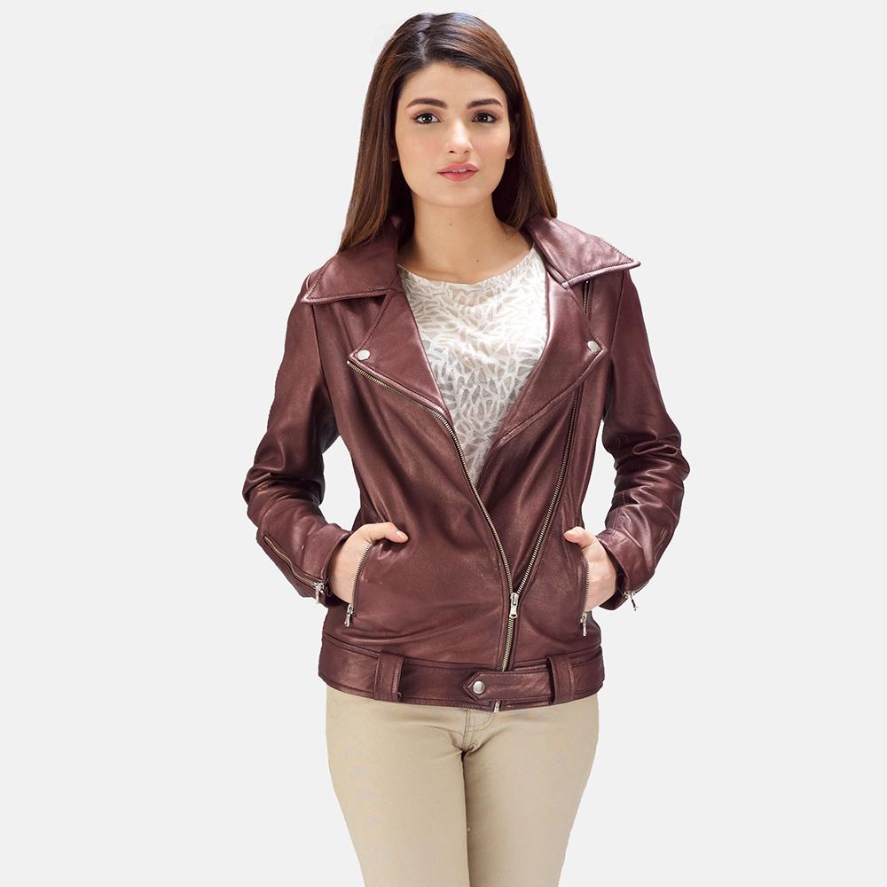 Womens-Rumy-Maroon-Leather-Biker-Jacket
