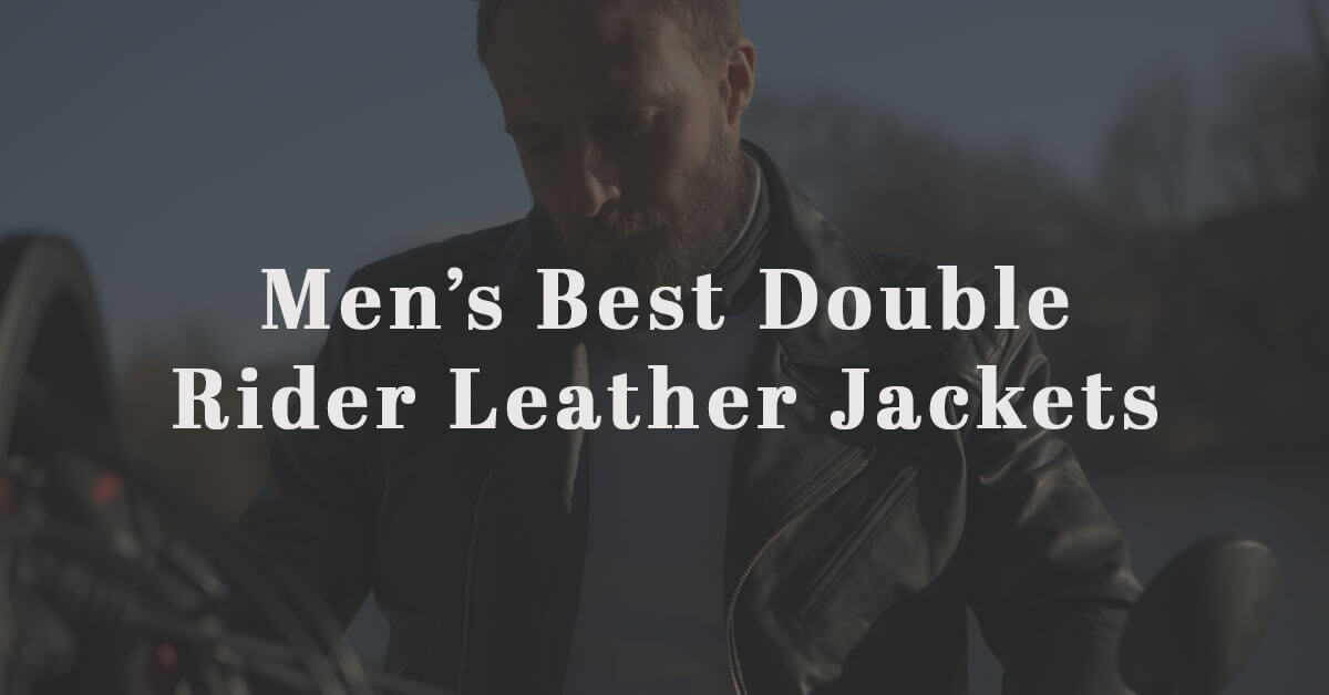 mens double rider leather jackets