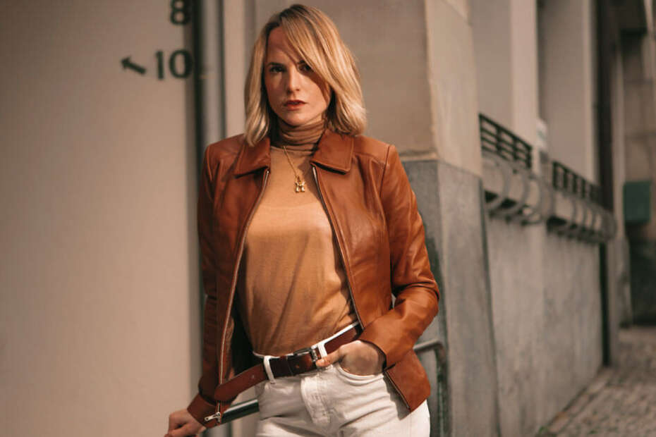 best leather jacket womens