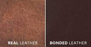 Bonded leather vs real leather