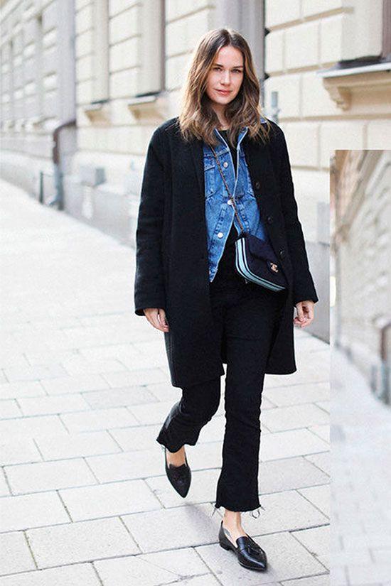 Denim Jacket Under the Winter Coat