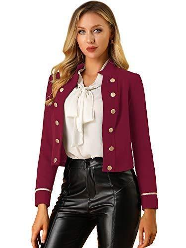 women burgundy leather jacket