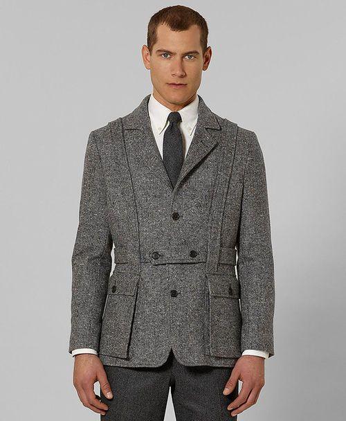 Man wearing the norfolk jacket