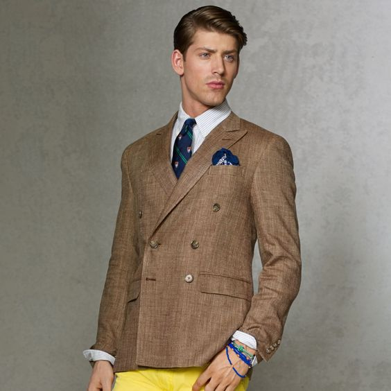 man wearing a double breasted sports coat