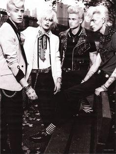 Men wearing rock and roll jackets
