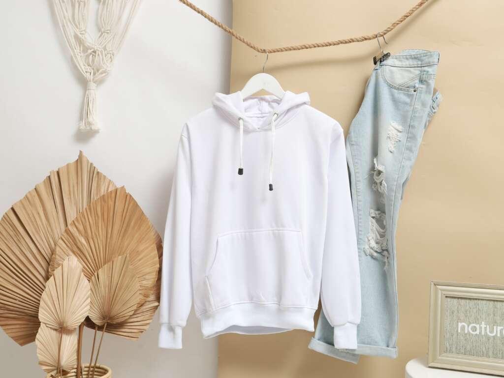 white hoodie for men
