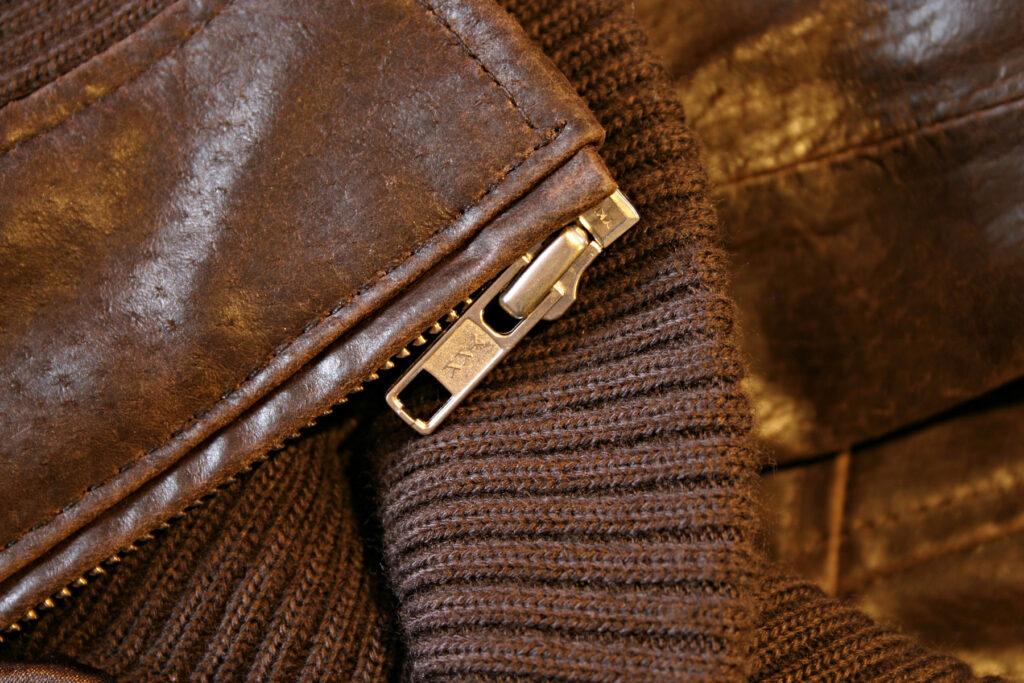 vintage jacket zipper