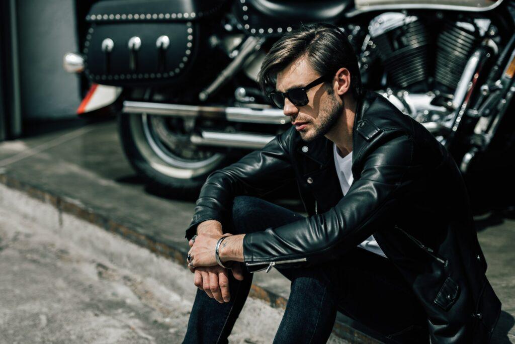 Stylish Blouson Biker Jacket
