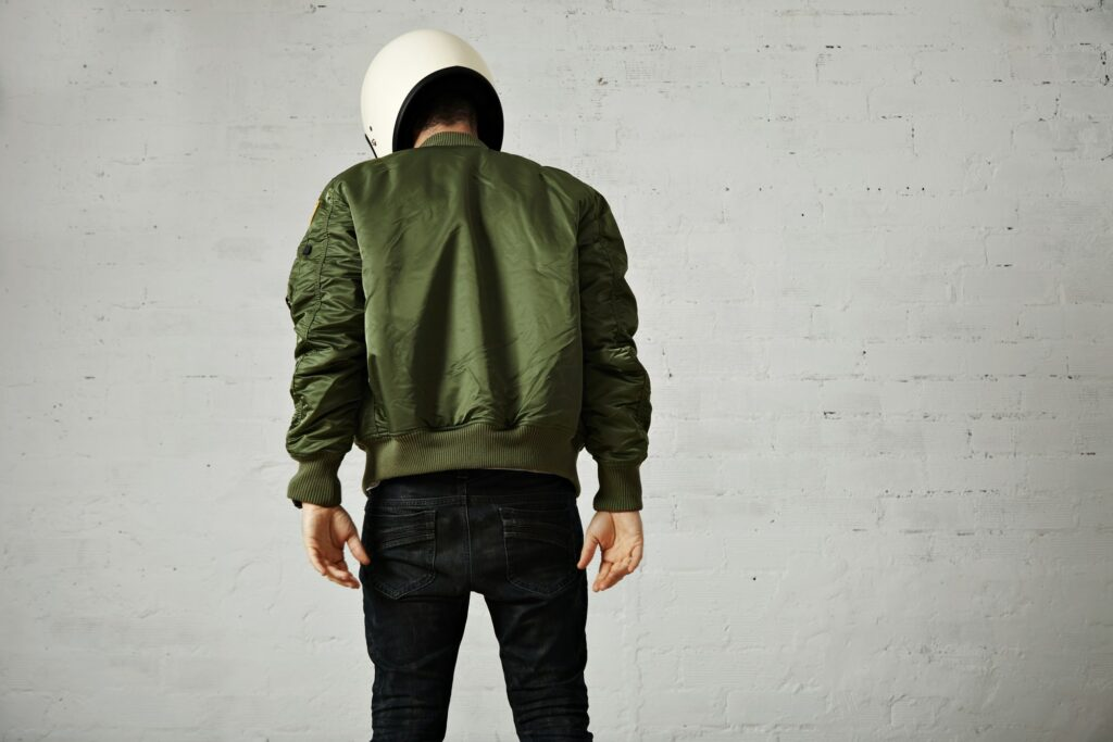 Green Bomber Blouson Jacket