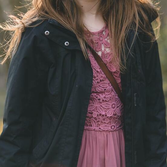 a lace blouson jacket with a jacket
